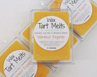 SOY Wax Tart Melt - Warmest Regards, orange, clove, vanilla, 3 oz, Beeswax, natural, fragrance, candle, melts, home, house, gift, soy