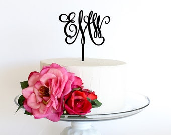 Custom Monogram Cake Topper