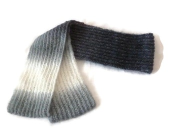 Knitted Mohair Scarf, Mohair Wool Scarf, Hand knit Scarf, Womens Scarf, Winter Scarf, Knit Soft Scarf