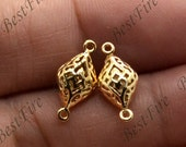 2pcs 24K Gold filled Brass Charm Diamond Connector Pendant Findings,necklace Findings,Jewelry findings,bracelet findings,earrings findings