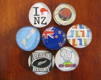 NEW ZEALAND Magnets Set of 7 Super Strong Magnets