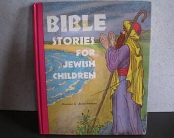 Vintage Mid Century Children's Book - Bible Stories For Jewish Children