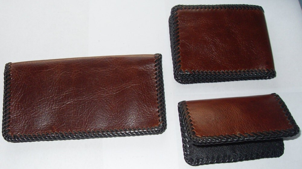 Business Checkbook Covers : Pc leather checkbook cover wallet and business card holder
