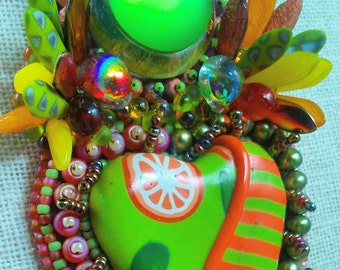 Citrus Explosion Bead Embroidery Jewelry