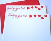 Love Letterpress Cards Sending You Love Ruby Red