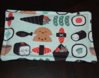 Rice Heating Pad / Ice Pack, 5 X 8 Happy Sushi