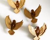 Vintage Burwood USA Gold Doves