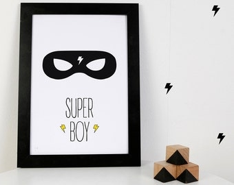 Digital Print: Super Boy