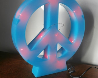 Teen Peace Sign Light Multi Color Lighting