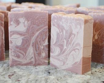 Handmade Merlot Cold Process Wine Soap