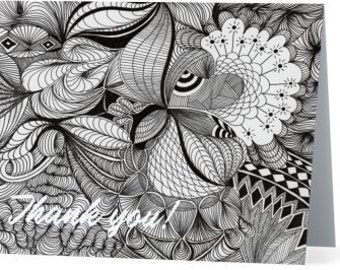 Zentangle  Thank You Notecards