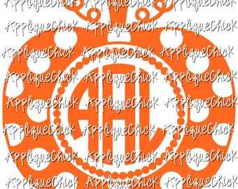 Pumpkin SVG Polka Dot for Monogram DXF