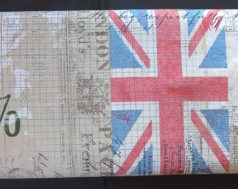 Tim Holtz - Royal Mail Neutral Eclectic Elements Correspondence - British Fabric / Union Jack