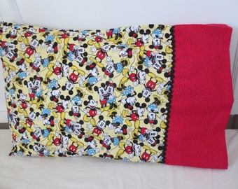 Mickey and Minnie Mouse Pillowcase
