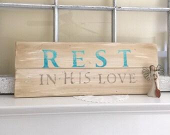 Rustic Wood Sign, christian Art, word art, ooak, hand stenciled