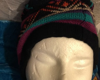 Warm winter hat slouch long new with tags acrylic