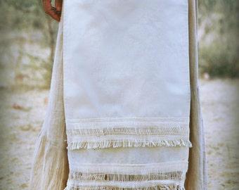 Panel Skirt ~ Cream Cotton ~