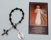 Divine Mercy Roman Catholic One Decade Chaplet in Dragon Blood