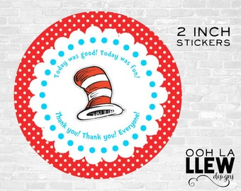INSTANT DOWNLOAD: Dr. Suess Party Favor Sticker/Tags