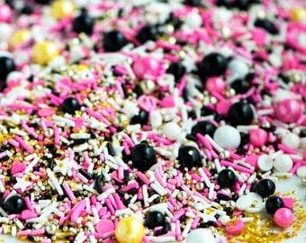 CATWALK Bulk Twinkle Sprinkle Medley, Pink, Paris, Black and Gold, Black Sprinkles, Canadian Sprinkles