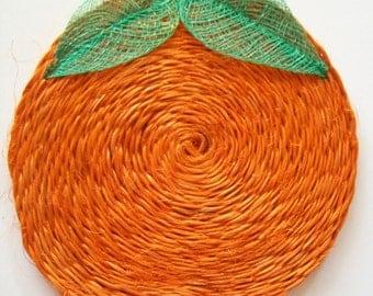 Vintage Abaca Decorative Trivets - SET OF TWO - 60s/70s