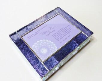 Stained Glass Keepsake Memory Box Bat Mitzvah Invitation Jewelry Box Custom Made-to-Order