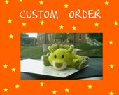 Custom order -  Green mouse softie