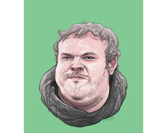 "HODOR 5x7"" GAME of THRONES limited edition print"