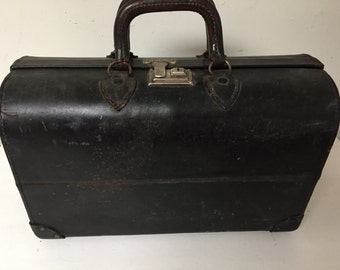 Antique Authentic Leather Doctor Bag
