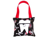 Tooth Fairy Pillow Boys Tooth Fairy Personalized Tooth Fairy Gift for Boys Personalized Tooth Fairy Pouch in Pirate Print