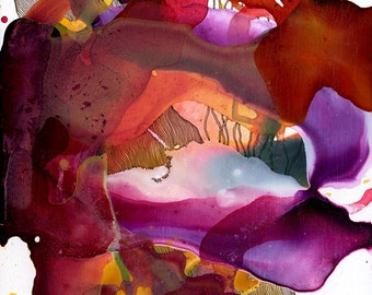 Vim I / Giclee print / organic / contemporary art / abstract painting