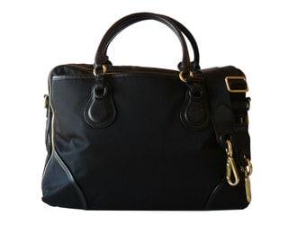 Tumi Black Nylon & Leather Briefcase Laptop Travel Shoulder Bag XL