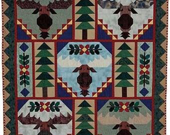 Trophy Bull Moose Quilt Pattern Booklet