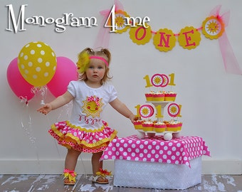You are my sunshine Birthday Dress - 1st birthday outfit - Sunshine Dress