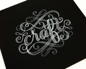 Craft embroidered mousepad