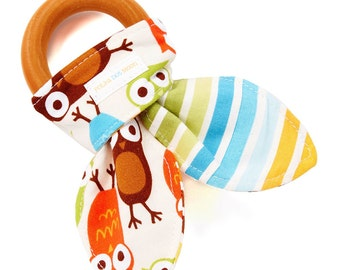 Wooden Teether -Boys teething ring, baby teether, wooden baby toy,newborn toys, baby gift boys, baby teething rings, wooden teether for boys
