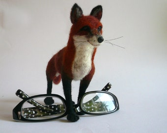 Needlefelted Animal/Needle Felted Fox/Felted Fox/ Fox miniature/ Made to order/Custom Miniature Sculpture of your pet