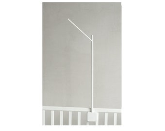 baby crib mobile holder WHITE / wooden mobile arm / baby crib attachment
