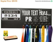 Marathon medals display rack - create your own - PR - white your own quote above the PR