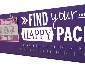 Running  Medal Display rack : Be proud - Find your happy pace