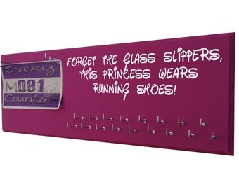 Running, Run disney, running medal hanger, running holder, Forget the glass slippers, This princess wears running shoes, disney princess