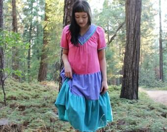 TRIPLE DIP Dress Rad Vintage 80's Tent Dress Secondary Colors