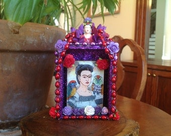 Frida Kahlo Nicho, Shrine, or altar piece.