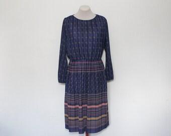 vintage 1970s blue dress | x-large/1X