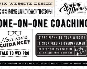 WIX Website Design CONSULTATION with a Wix PRO Designer - One on One Website Coaching - Creative Coaching - Website Planning - Wix Website