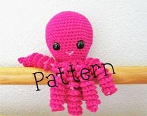 Octopus Crochet Pattern, Octopus Toy, Octopus Pattern, Crochet Pattern, Crochet Octopus, Octopus amigurumi, Crochet, Pattern, Christmas Toy