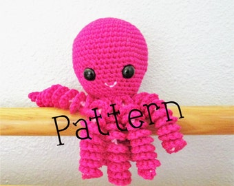Crochet Octopus Pattern, Octopus, Infant Octopus toy pattern, Children's Toy, Crochet Pattern, Baby Shower Gift, Infant soother, Crochet