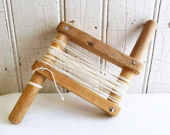 SALE - Vintage Wood Kite Winder or Clothesline Holder - Handmade - Grandpa Made String Holder - Mid-Century 1950s