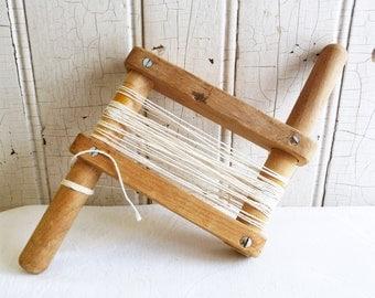 Vintage Wood Kite Winder or Clothesline Holder - Handmade - Grandpa Made String Holder - Mid-Century 1950s
