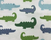 Aligators -  FLANNEL Fabric - BTY